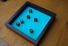 board dice tray using ribba frame