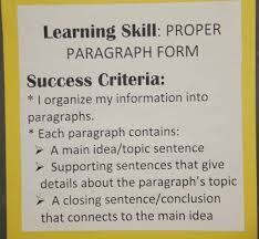 writing a retell learning goals and success criteria 5 paragraph essay success criteria google search