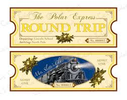 Polar Express Ticket Template Free Download