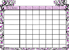 Free Printable Sakura Chore Chart Photo This Photo Was
