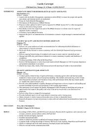 Quality Assurance Associate Sample Resume Associate Quality Assurance Associate Resume Samples Velvet Jobs 2