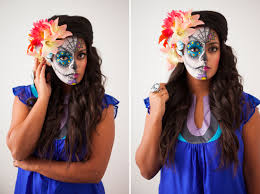 tutorial you half face sugar skull makeup how to paint a sugar skull on your face