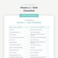 House Design Checklist Free Printable House For Sale Checklist Clean Mama