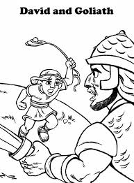 Small Picture David And Goliath Coloring Page David And Goliath Coloring Page