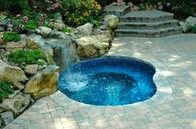 inground pools with waterfalls and hot tubs. In-ground Spa With Waterfall: Inground Pools Waterfalls And Hot Tubs