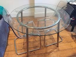 glass dining table for ikea salmi table