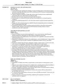 Download Senior Analyst, AML Resume Sample as Image file