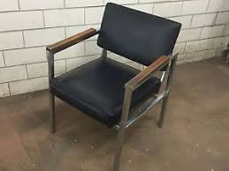 office chair vintage. Image Is Loading Vintage-Steel-DoMore-Office-Chair-Black-Vinyl-Industrial- Office Chair Vintage O