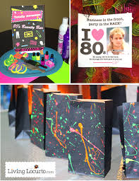 totally awesome 80 s neon birthday party ideas and party printables livinglocurto com