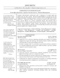 Example Of Executive Assistant Resumes Executive Assistant Resume