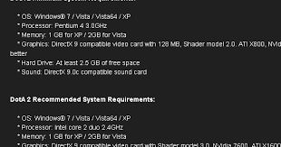dota 2 guides system requirements for dota 2