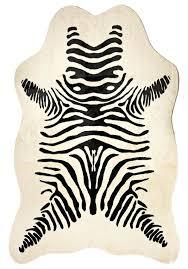 faux zebra hide rug cowhide uk