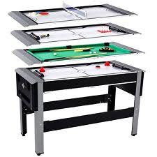 Lancaster 4 in 1 Combo Arcade Game Room Table, Bowling Hockey Table Tennis Pool | eBay