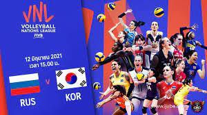 ถ่ายทอดสด วอลเลย์บอลหญิง เนชันส์ลีก 2021 รัสเซีย vs เกาหลีใต้ Full HD