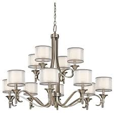 kichler lighting 42383ap lacey transitional chandelier in antique pewter