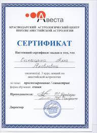 Сертификаты дипломы Синицыной А  Тема Прогнозирование синастрия