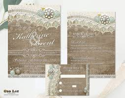Burlap And Lace Wedding Invitations Burlap And Lace Wedding Invitations Rsvp Cards And Insert Etsy