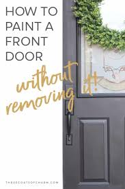 how to paint a front door without