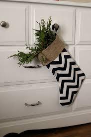 burlap chevron stocking