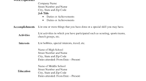 Fill In Blank Resume Profesional Resume Format General Labor