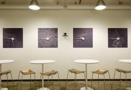 office clock wall. Unique Office Interior Design Ideas To Promote Working Mood : Concentration Zones Skype Interiors With Clock Wall A