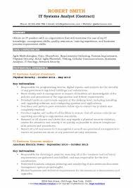 It Systems Analyst Resume Samples Qwikresume