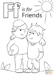 Small Picture Letter F is for Friends coloring page Free Printable Coloring Pages