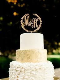 wedding cakes amazing monogram cake toppers 2018