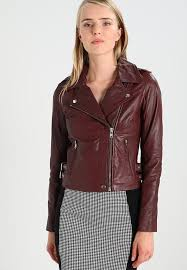 elegant leather jackets dark brown yas yascinna for women modern