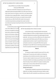 Apa College Research Paper Format Example My College Scout