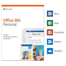 Offi 365 Microsoft Office 365 Personal 1 User 1 Year Pc Mac Download