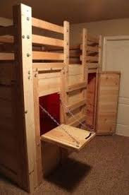 cool bunk bed fort. Lofted Bed With A Fort Underneath! Great DIY Project To Do Your Kids. Cool Bunk