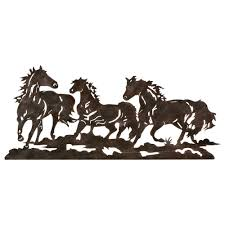 on wall art pictures of horses with metal running horse wall art