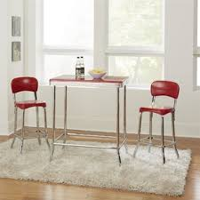 bate red retro 3 piece dining set
