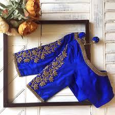 Saree Blouse Hand Work Designs Designer Blouse Collection From Nyshka Design Studio