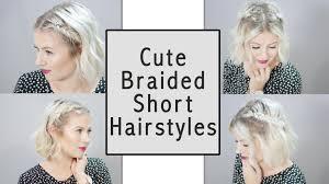Cute Braided Short Hairstyles Milabu Youtube