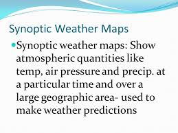 What Is A Synoptic Weather Map Ppt Video Online Download