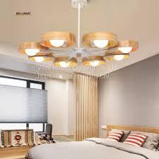 nordic wood chandelier lamp modern minimalist dining room den bedroom living room chandelier creative personality wooden