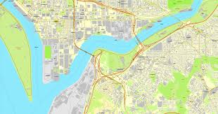 Us Map Editable Washington Dc Map Us Vector City Plan Adobe Illustrator Editable