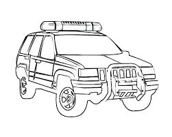 Police Car Coloring Pages Page Of Cars Free Cartoon Poli Color