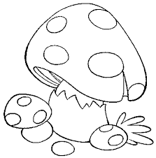 Small Picture Mushrooms Coloring Pages