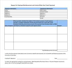 Expense Form Template Employee Reimbursement Request Printable ...