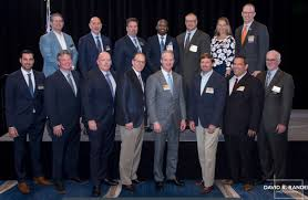Adam Linkhorst (top left) was sworn in (again) as a board member and  general counsel for the AGC Florida East Coast Chapter