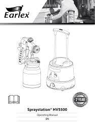 Earlex Hv5500 Technical Data Manualzz Com