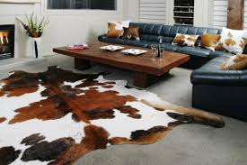 image of animal skin ikea cowhide rug uk