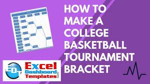 Excel Ncaa Tournament Bracket How To Make A College Basketball Tournament Bracket In Excel Youtube