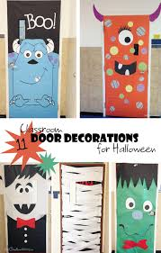 Cool Classroom Door Decorations for Halloween onecreativemommycom