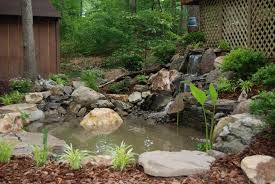 Small Picture Backyard Pond Waterfalls E How To Build A Waterfall In The Latest