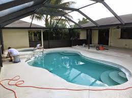 painting pool patio deck using h c solid color concrete stain