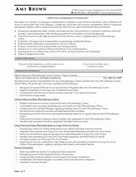Resume Format For Admin Officer Awesome Chic Physiotherapist
